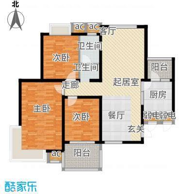 凤凰花园123.00㎡123平米三室两厅一卫户型3室2厅1卫