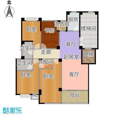紫东名府137.00㎡E户型4室2厅2卫