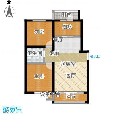 明悦浪漫城高层9栋A户型2室2厅1卫使用面积78平米户型2室2厅1卫