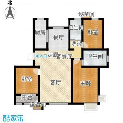 松江东湖小镇D-01户型3室2厅2卫