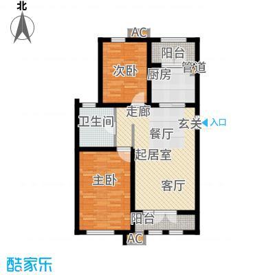 松江东湖小镇C-01户型2室2厅1卫