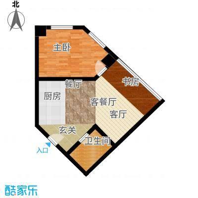 秀东尚座58.00㎡B3户型