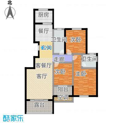 中国铁建・原香漫谷128.60㎡G户型三室两厅两卫128.6㎡户型3室2厅2卫