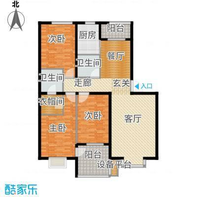 永康城市花园三室两厅两卫155-164平户型3室2厅2卫