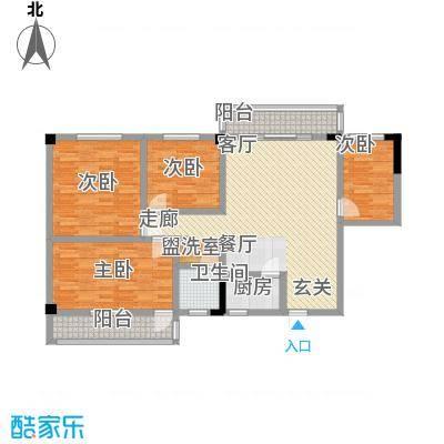 太子花苑113.00㎡3号楼C户型4室2厅1卫