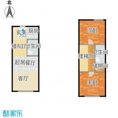 滨才城法兰之香loft户型 参考使用面积68.42平米户型2室1厅2卫