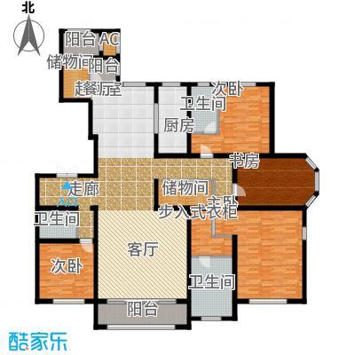 华厦津典三期川水园271.26㎡D户型4室2厅3卫