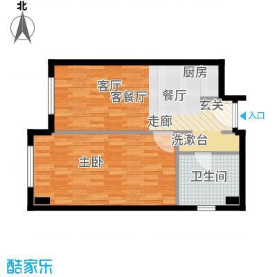 华润紫阳里62.00㎡C1户型2室1厅1卫