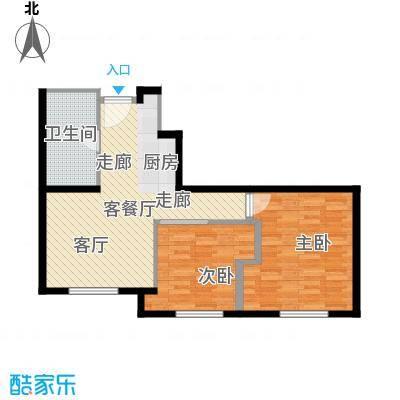 华润紫阳里67.00㎡D1户型2室1厅1卫