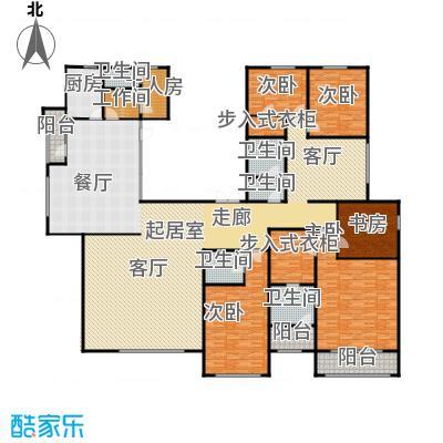 亿利城文澜雅筑386.16㎡户型5室3厅4卫