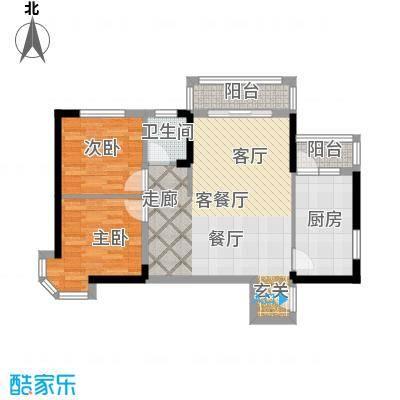 青桦逸景86.00㎡27、28#G户型86㎡户型2室2厅1卫