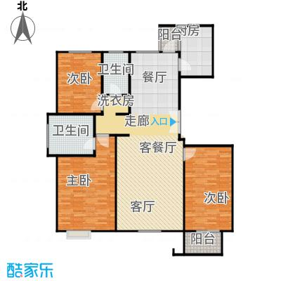 亿利城文澜雅筑151.47㎡户型3室2厅2卫