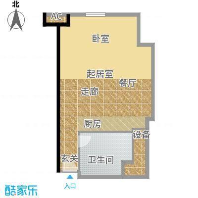 天津环球金融中心80.00㎡A15-80平米户型