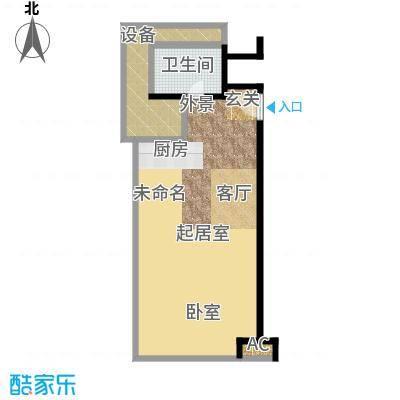 天津环球金融中心88.00㎡B01-B03-88-90平米户型