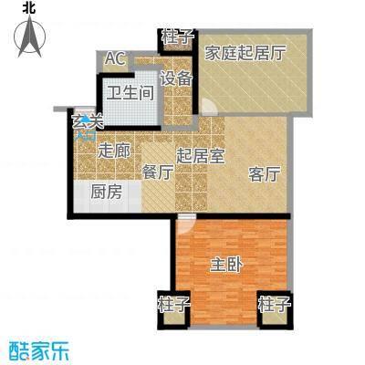 天津环球金融中心128.00㎡B05-二室二厅一卫-128平米户型