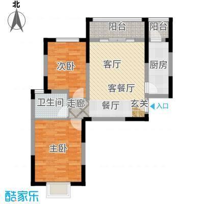 青桦逸景89.00㎡19、20#C户型89㎡户型2室2厅1卫