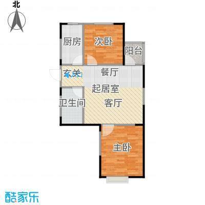 LOHAS上院7号公寓62.63㎡G户型2室1厅1卫