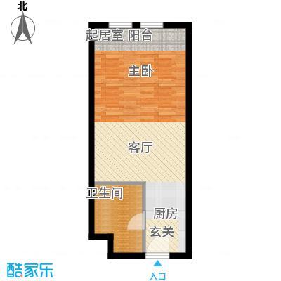 中海御湖翰苑C户型 43.12-48.09平米户型