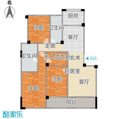 绿城御园141.00㎡5#楼户型3室2厅2卫