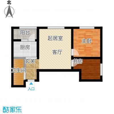 锦江花园户型2室1卫1厨