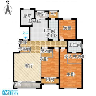 华厦津典三期川水园181.54㎡G户型3室2厅2卫