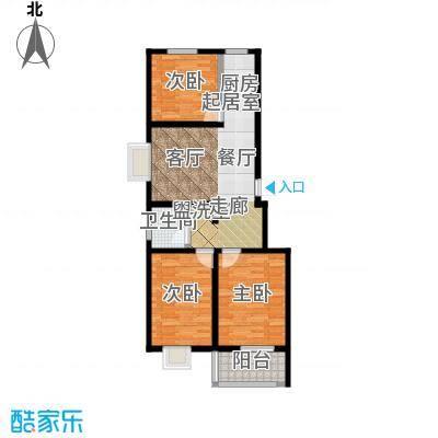 锦江花园户型3室1卫