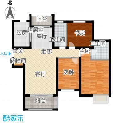 绿地学府公馆107.00㎡A2户型3室2厅2卫