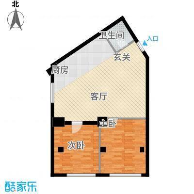 景阳SOHO户型2室1卫