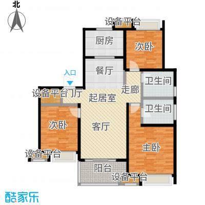 万科玲珑东区115.00㎡3室2厅2卫户型3室2厅2卫