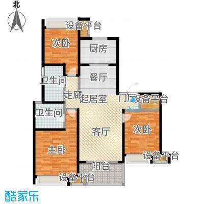 万科玲珑东区125.00㎡D1户型3室2厅2卫户型3室2厅2卫