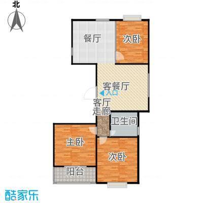 阳光海岸户型3室1厅1卫