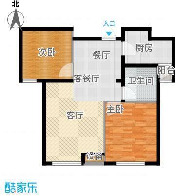 通用富馨佳苑91.00㎡C1户型2室2厅1卫