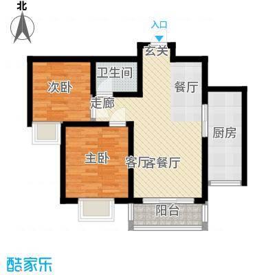 阳光汾河湾81.37㎡阳光汾河湾JJ\'户型两室两厅一卫户型2室2厅1卫