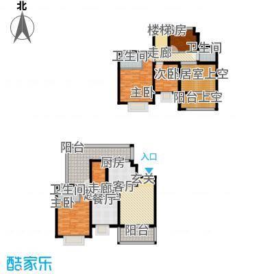 商城凤凰印象157.97㎡D1复式户型4室2厅3卫