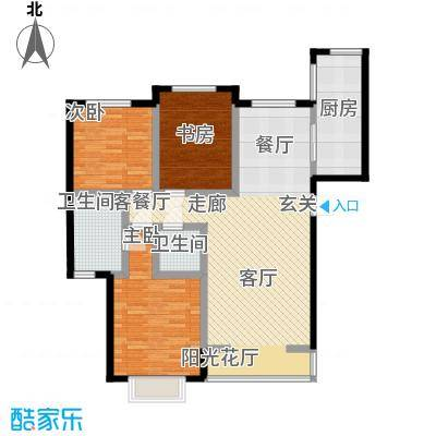 阳光汾河湾146.77㎡阳光汾河湾A\'户型三室两厅两卫户型3室2厅2卫