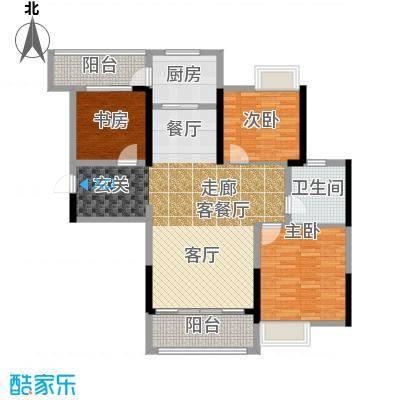 南昌万达城110.00㎡A区住宅B5户型3室2厅1卫