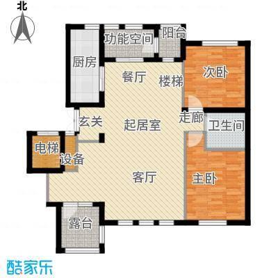 辰能溪树河谷A户型3层参考使用面积104.86平米户型3室2厅2卫