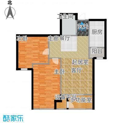 新松・茂樾山92.00㎡建筑面积约92平米D4户型2室2厅1卫