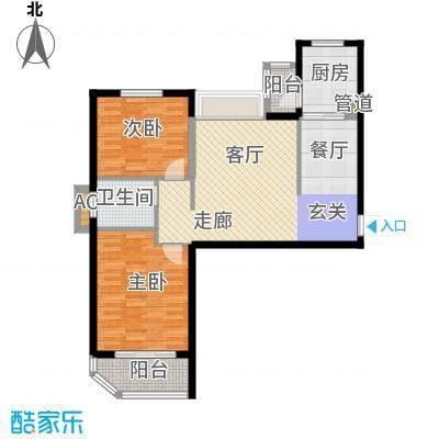 金桥澎湖湾85.20㎡11#15#A户型2室2厅1卫