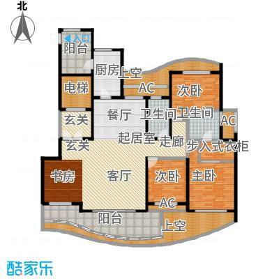 国际广场F2户型180m²户型CC
