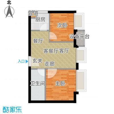 东方国际48.44㎡2室1厅1卫