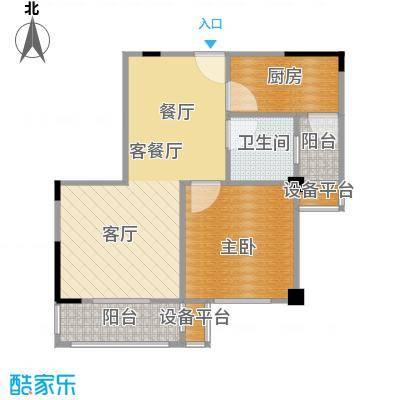 菱湖印象56.00㎡A2户型1室2厅1卫