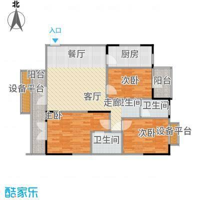 中御公馆户型3室1厅2卫1厨