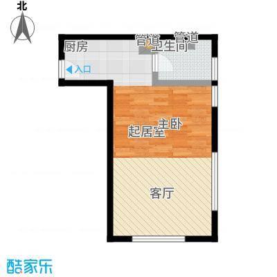 荣兴国际澜调61.99㎡B户型1室1厅1卫