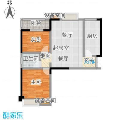 翰林珑城81.11㎡�房翰林珑城C8户型2室2厅1卫1厨户型2室2厅1卫