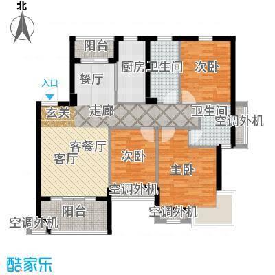 嘉业海棠湾103.00㎡A1户型4室2厅2卫