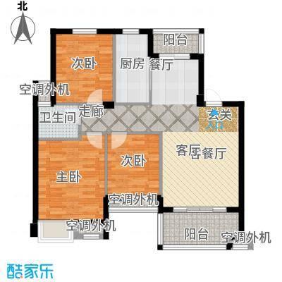 嘉业海棠湾96.00㎡B1户型4室2厅2卫