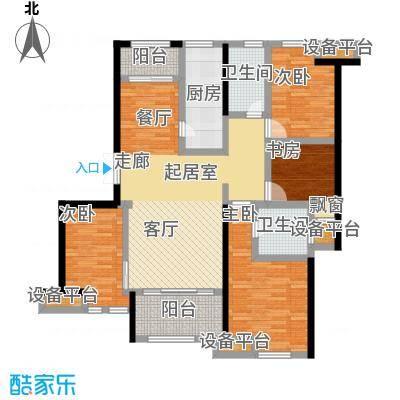 新力帝泊湾116.00㎡C户型4室2厅2卫
