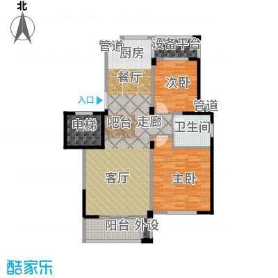 大树玫瑰恬园95.00㎡A1户型95平两居户型2室2厅1卫