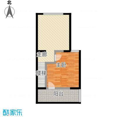 瑞景名郡A座标准层a户型2层户型1室1厅LL